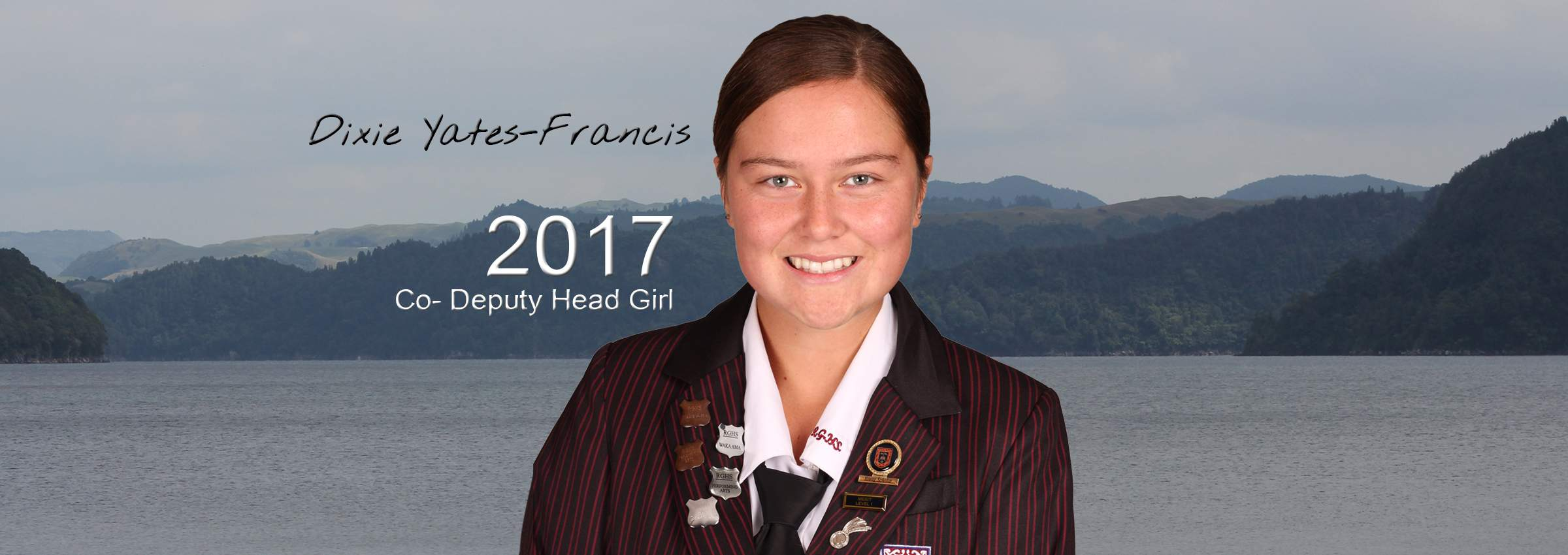 2017 co -deputy HEAD GIRL BANNER Dixie